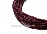 Шнур вощеный 1 мм цвет марсала 6 метров/упаковка 055465 - 99 бусин