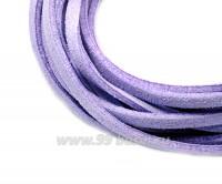 """Шнур искусственный """"Замша"""" 2,5*1 мм цвет сиреневый 3 отрезка по 1 метру/упаковка 055494 - 99 бусин"""