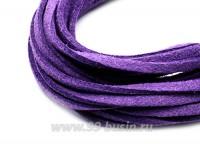 """Шнур искусственный """"Замша"""" 2,5*1 мм цвет фиалковый 3 отрезка по 1 метру/упаковка 055497 - 99 бусин"""