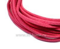 """Шнур искусственный """"Замша"""" 2,5*1 мм цвет персидский розовый 3 отрезка по 1 метру/упаковка 055593 - 99 бусин"""