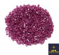 Рубка Matsuno Hexagon 2.1 мм цвет 10207 хрустальный розовый, малиновое отверстие Япония 10 грамм 055616 - 99 бусин