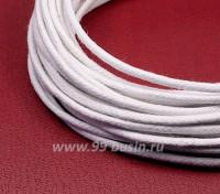 Шнур вощеный 1,5 мм белый 6 метров/упаковка 055633 - 99 бусин