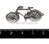 Подвеска Велосипед 39*20 мм, цвет старое серебро 1 штука 055654 - 99 бусин