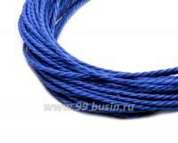 Шнур синтетический витой 0,7 мм (подходит для плетения браслетов), цвет лазурный, 6 метров/упаковка 055714 - 99 бусин