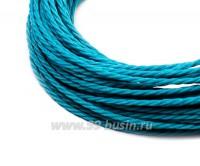 Шнур синтетический витой 0,7 мм (подходит для плетения браслетов), цвет морской волны, 6 метров/упаковка 055715 - 99 бусин
