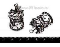 Подвеска Карусель 37*22 мм, цвет старое серебро, 1 штука 055747 - 99 бусин