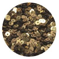 Мини пайетки плоские 2,5 мм Antique Gold Color Crystal finish № 389 Индия 3 грамма (около 1200 штук) 055864 - 99 бусин