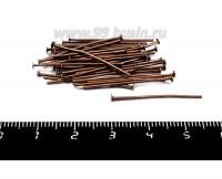 Пины гвоздики 26*0,8 мм цвет старая медь 40 штук/упаковка 055866 - 99 бусин