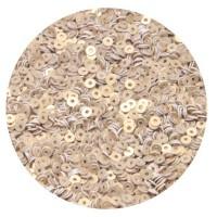 Мини пайетки плоские 2,5 мм White Gold № 396 Индия 5 грамм (около 2000 штук) 055867 - 99 бусин