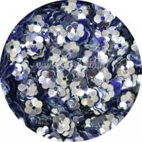 Пайетки Цветочек чаша 6 мм 5116 Indigo (индиго глянцевый) Индия, 3 грамма 055906 - 99 бусин