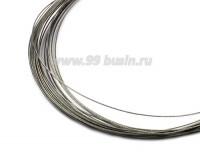 Тросик ювелирный 0,35 мм, цвет серебристый 6 метров/упаковка 055916 - 99 бусин