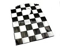 Пакет подарочный Клетка 17,5*13 см, цвет белый/черный, материал полиэтилен, 10 штук/упаковка 055989 - 99 бусин