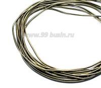 Канитель гладкая матовая 1 мм, цвет светлая бронза MK-23, пр-во Индия, упаковка 5 грамм (разные отрезки, общая длина около 3,2 метров) 056029 - 99 бусин