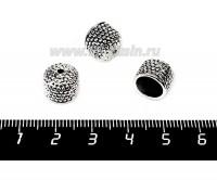 """Колпачок """"Соты"""", 9*10,5 мм, внутренний диаметр 8 мм, цвет старое серебро 1 штука 056158 - 99 бусин"""