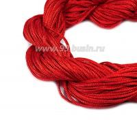 Шнур синтетический нейлоновый ювелирный в пасме (подходит для плетения браслетов), диаметр 1 мм, цвет красный, 20 метров/упаковка 056160 - 99 бусин