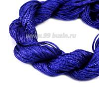 Шнур синтетический нейлоновый ювелирный в пасме (подходит для плетения браслетов), диаметр 1 мм, цвет синий, 20 метров/упаковка 056161 - 99 бусин