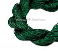 Шнур синтетический нейлоновый ювелирный в пасме (подходит для плетения браслетов), диаметр 1 мм, цвет зеленый, 20 метров/упаковка 056164 - 99 бусин