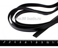 Шнур латексный ПЛОСКИЙ 10*2 мм, цвет черный, 1 метр/упаковка 056169 - 99 бусин