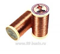 Нитки металлизированные №40 Fil au Chinos Китайский император - цвет 130 медь Франция 100 метров/катушка 056317 - 99 бусин