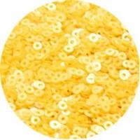Мини пайетки плоские 3 мм 1007 Snapdragon Yellow Color Индия 5 грамм (около 1600 штук) 056323 - 99 бусин