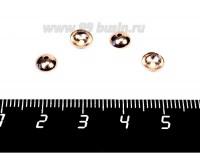 Шапочка для бусин ювелирная Лаконичная 6*2 мм, розовая позолота 0,45 мкн 2 штуки/упаковка 056545 - 99 бусин