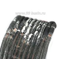 Пайетки 4 мм Италия форма чаша, нить 1000 штук, цвет 401 серебро 056649 - 99 бусин