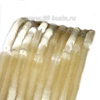 Пайетки 4 мм Италия плоские нить 1000 штук, цвет 423 шампиньон 056693 - 99 бусин