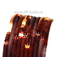 Пайетки 4 мм Италия плоские нить 1000 штук, цвет 0227 оранжевый металлик 056696 - 99 бусин