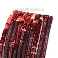 Пайетки 4 мм Италия плоские нить 1000 штук, цвет 316 красный металлик 056697 - 99 бусин