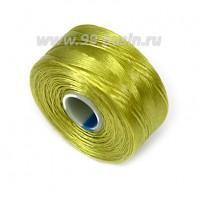 Нить Superlon (S-lon) AA цвет chartruese (оливковый зеленый) катушка 68,58 метров 056712 - 99 бусин