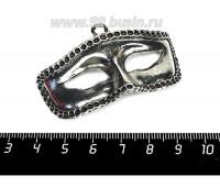 Подвеска Маска 33*56 мм, цвет старое серебро, 1 штука 056761 - 99 бусин