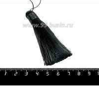 Кисточка 8 см, цвет чёрный, материал полиэстр, 1 штука 056791 - 99 бусин
