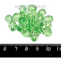 Бусины акрил Круглые граненые 10 мм, цвет светло-зеленый 20 штук/упаковка 056823 - 99 бусин