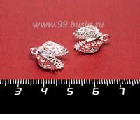 Колпачок Премиум Физалис 10*15 мм цвет светлое серебро 1 штука Китай 056841 - 99 бусин
