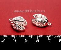 Колпачок Премиум Физалис большой 19*11 мм цвет светлое серебро 1 штука Китай 056842 - 99 бусин