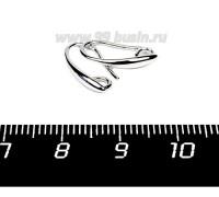 Швензы Премиум петля со скрытым колечком родированые 1 пара Китай 056857 - 99 бусин