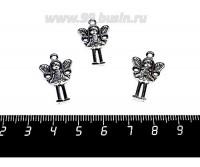 Подвеска Девочка ангел 25*15 мм цвет старое серебро 1 штука 056887 - 99 бусин