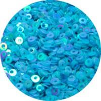 Мини пайетки плоские 4 мм Blu Light Color № 848 Индия 5 грамм (около 1300 штук) 057026 - 99 бусин