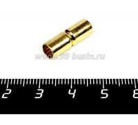 Замок магнитный Столбик для вклейки 18*6 мм внутренний диаметр 5 мм, цвет золото, 1 штука 057071 - 99 бусин