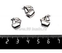 Бусина металлическая Кораблик, 14*11 мм, внутреннее отверстие 4 мм, цвет старое серебро, 1 штука 057134 - 99 бусин