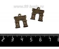 Подвеска Триумфальная арка 18*14 мм, цвет бронза, 2 штуки/упаковка 057141 - 99 бусин