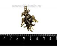 Подвеска Попугай 3D 50*29 мм, цвет бронза, 1 штука 057143 - 99 бусин