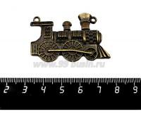 Подвеска Паровоз 46*31 мм, цвет бронза, 1 штука 057145 - 99 бусин
