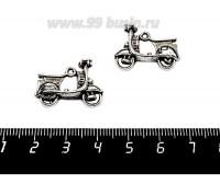 Подвеска Мотороллер 23*18, цвет старое серебро 1 штука 057150 - 99 бусин