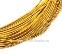 Канитель гладкая жесткая (жемчужная) 1 мм, цвет желток пр-во Индия, упаковка 5 грамм (общая длина около 1,35 метров) 057305 - 99 бусин