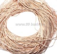 Канитель ОПТ 1 мм мягкая матовая, цвет MK-02 светлое розовое золото 50 граммов/упаковка Индия 057317 - 99 бусин