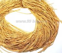 Канитель ОПТ 1 мм мягкая матовая, цвет MК-05 жёлтое золото 100 граммов/упаковка Индия 057319 - 99 бусин
