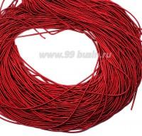 Канитель ОПТ 1 мм мягкая матовая, цвет MК-09 красный 50 граммов/упаковка Индия 057324 - 99 бусин