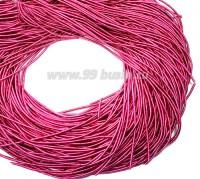 Канитель ОПТ 1 мм мягкая матовая, цвет MК-10 ярко-розовый 100 граммов/упаковка Индия 057325 - 99 бусин
