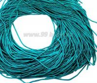 Канитель ОПТ 1 мм мягкая матовая, цвет MК-12 бирюзовый 50 граммов/упаковка Индия 057328 - 99 бусин
